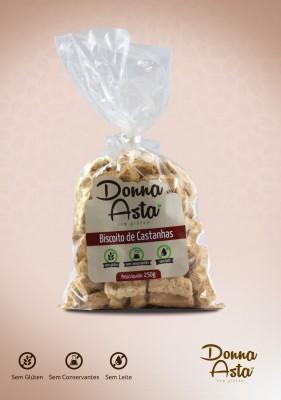 Biscoito de Castanha, Sem Glúten.