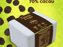 Caixinha Com Discos de Chocolate 70% Sem Glúten, Sem Lactose, Zero Açúcar.